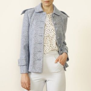 Anthropologie Paper Crown Blue Edinburgh Coat